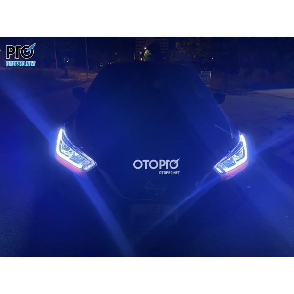 Nissan Almera 2021 nâng cấp đèn pha led và Led mí