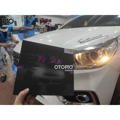 Hyundai Accent 2019 nâng cấp đèn bi led Titan Black