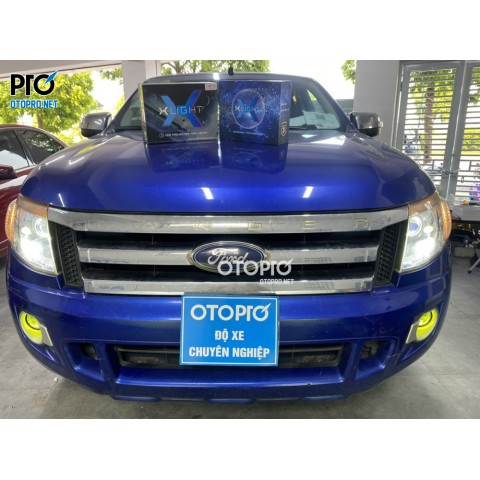 Ford Ranger 2014 nâng cấp đèn X-Light v20l và X-Light f10