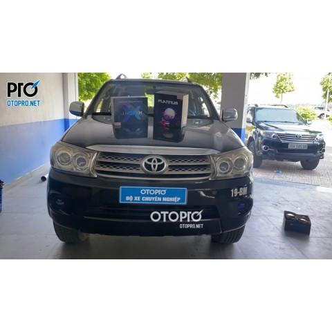 Toyota Fortuner 2010 nâng cấp đèn bi led Platium và X-Light F10