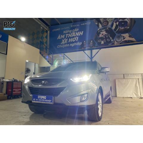 Hyundai Tucson 2010 lên Đèn pha nguyên bộ + Bóng led pha GPNE chân H7