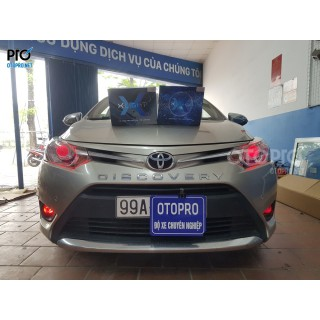 Toyota Vios 2017 độ Đèn Bi Led X-Light V20, Bi Gầm Led F10