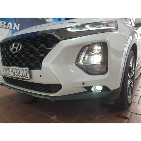 Hyundai SantaFe 2019 độ bi gầm LED 2 màu