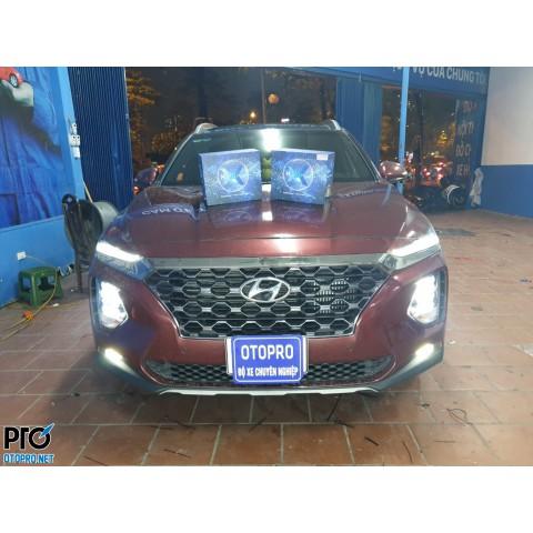 Độ bi LED cho Hyundai SantaFe 2019 - 2020
