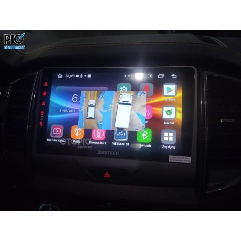 Ford Ranger WT 2021 lắp màn hình android Zestech z800 pro +