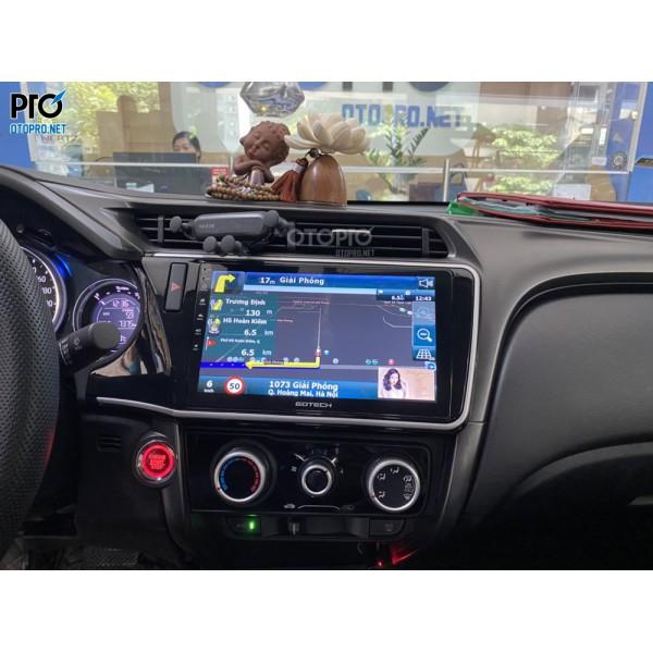 Honda City lắp màn hình android Gotech GT360