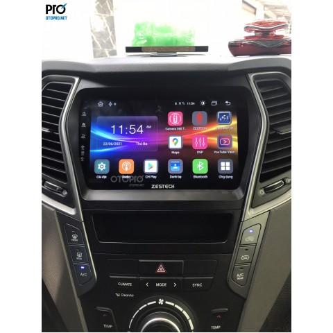 Hyundai Santafe 2017 lắp màn hình Android Zestech Z800+