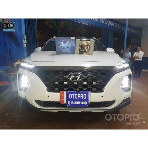 Hyundai Santafe 2020 độ Bi Laser Jaguar và Bi Led X-Light V20