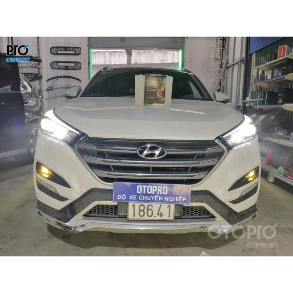 Hyundai Tucson 2017 độ Bi laser Jaguar và Bi led VN Light gầm