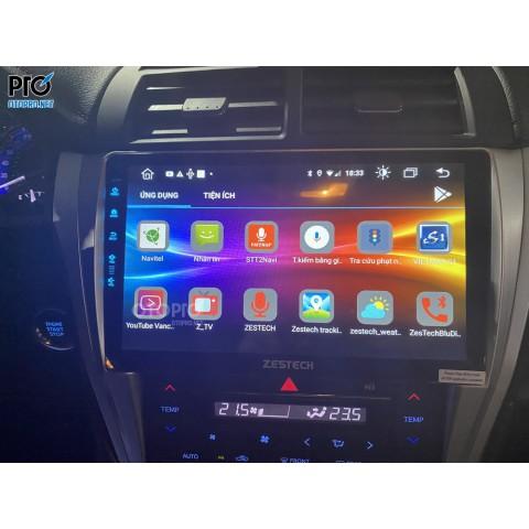 Toyota Camry 2018 2.5Q lắp màn hình android Zestech Z800pro+