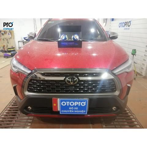 Toyota Corolla Cross lên Bi gầm Honda 2.0 in- Bi pha Omega Domax Laser