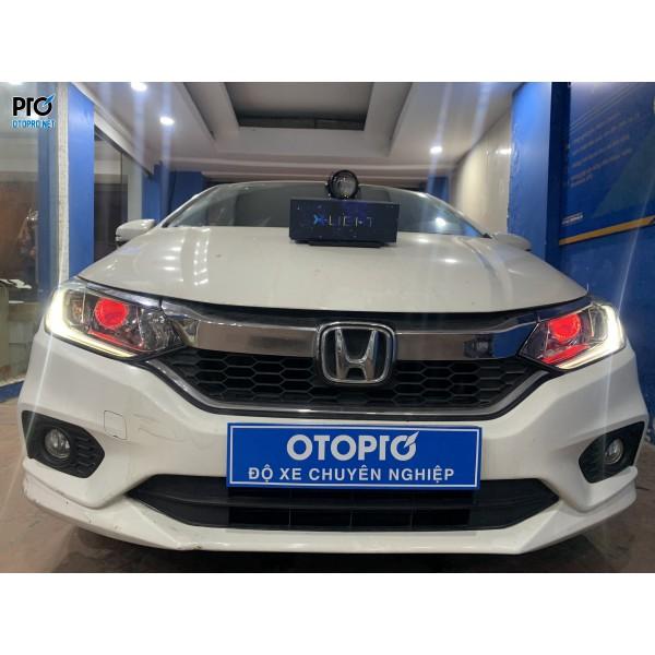 Honda City 2019 lên Bi Led X-Light V20, Mắt quỷ