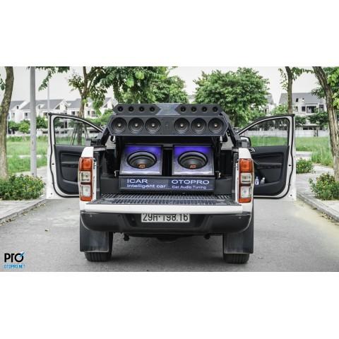 Ford Ranger độ hệ thống âm thanh loa Hertz đánh show