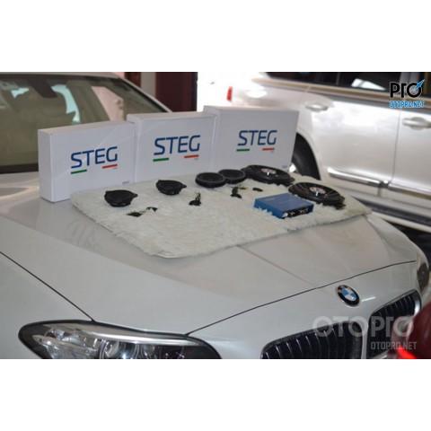 BMW 525 nâng cấp hệ thống âm thanh loa STEG