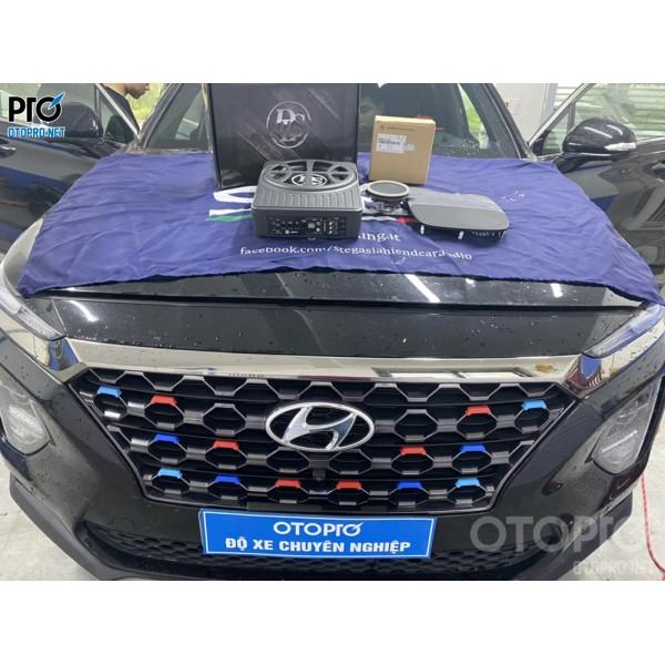 Hyundai Santafe 2020 nâng cấp loa sub điện DLS & Loa trung tâm