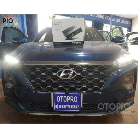 Hyundai Santafe 2020 nâng cấp loa sub điện Focal