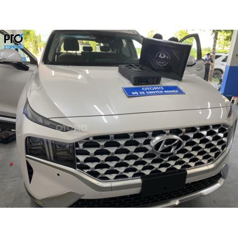 Hyundai Santafe 2021 lắp loa sub điện DLS ACW10 (2)