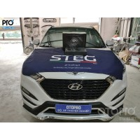 Hyundai Tucson lắp đặt loa Sub điện DLS ACW10