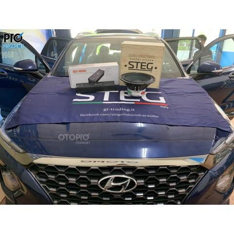 Hyundai Santafe 2020 nâng cấp loa sub hơi STEG SS10