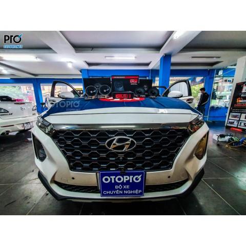 Độ loa Hyundai Santafe 2020 với cấu hình âm thanh loa DLS RC6.2Q