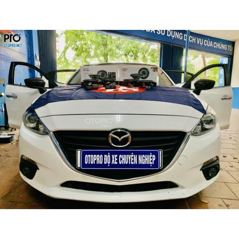 Độ loa Mazda 3 2015 với cấu hình âm thanh loa Focal PS 165 V1