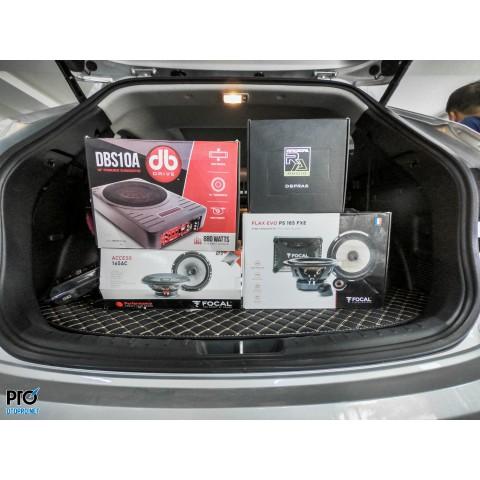 Hyundai SantaFe 2016 nâng cấp cấu hình âm thanh 2-way Focal