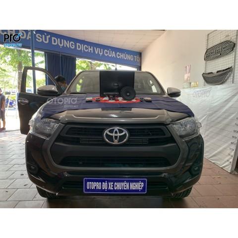 Toyota Hilux 2020 nâng cấp hệ thông loa DLS MB6.2