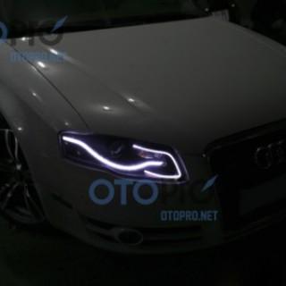 Độ dải LED mí khối đèn pha cho xe Audi A4