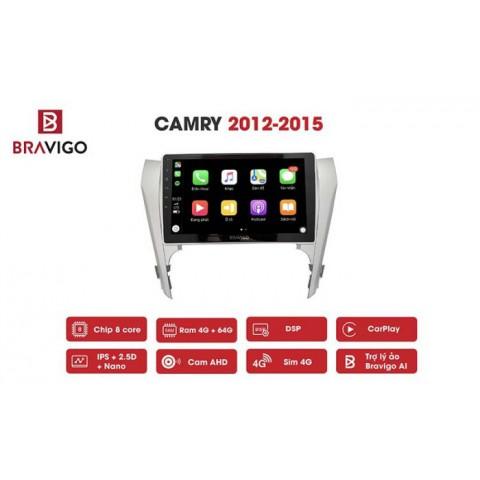 Đầu màn hình android ô tô Bravigo cho xe Toyota Camry