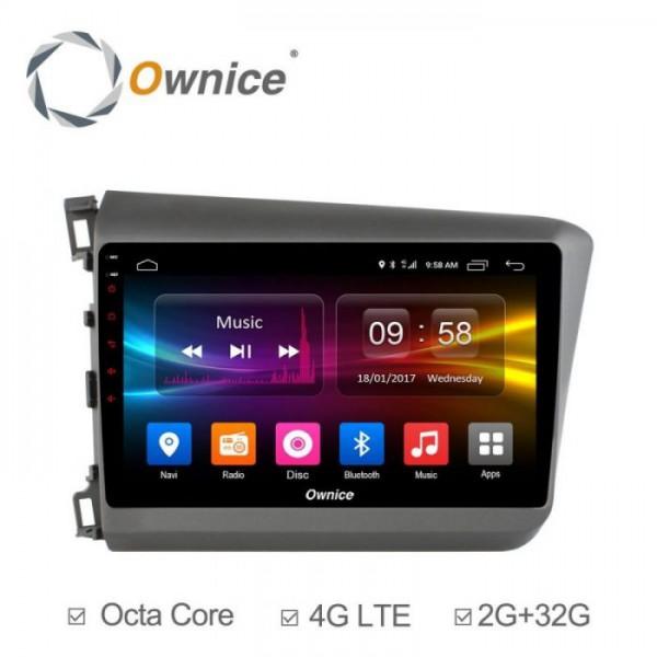 Đầu màn hình android DVD ô tô Ownice C500+ cho xe Honda Civic