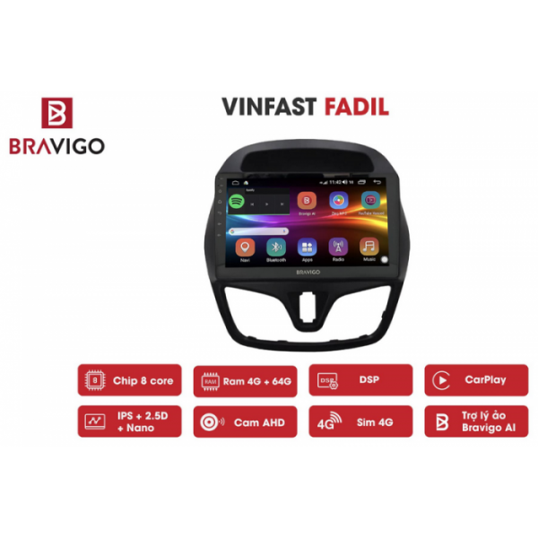 Đầu màn hình android DVD ô tô cho xe Vinfast Fadil