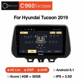 Đầu màn hình android ô tô Ownice C960 cho xe Hyundai Tucson