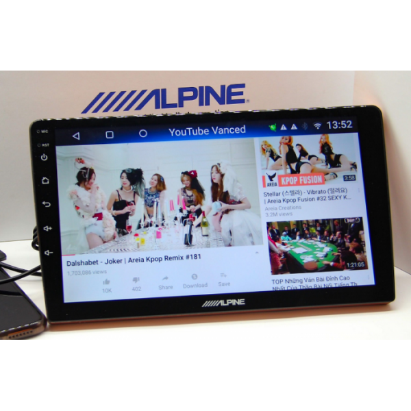 Màn hình DVD Android ô tô Alpine INE-AS609