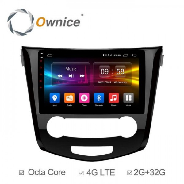 Đầu màn hình android DVD ô tô Ownice C500+ cho xe Nissan Xtrail