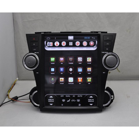 Đầu màn hình android DVD ô tô Tesla cho xe Toyota Highlander