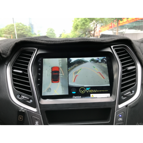 Camera 360 độ ô tô cho xe Hyundai Santafe