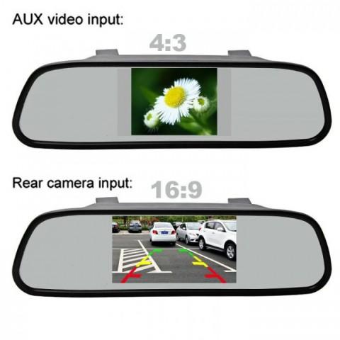 Camera lùi ô tô tích hợp gương chiếu hậu