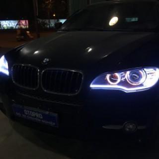 BMW X6 độ gói bi hella5 full hộp và led mí