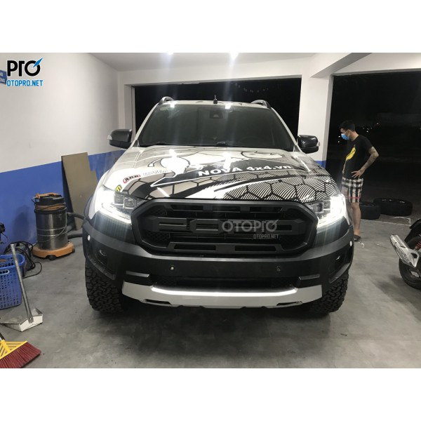 Ford Ranger 2016 độ Body Raptor, mâm fuel 18 in, đèn pha led bugatti, đèn hậu led