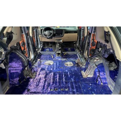 Cách âm chống ồn với vật liệu DrARTEX cho xe Mitsubishi Outlander