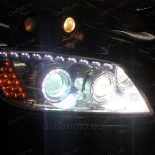 Độ bi xenon, angel eyes, LED mí Transformer, xi nhan cho Captiva