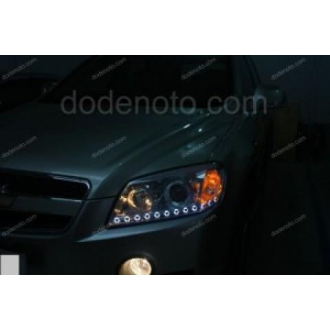Độ dải LED mí O-Block cho xe Chevrolet Captiva
