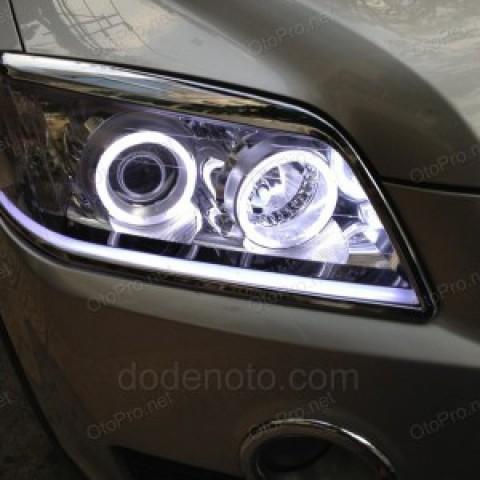 Độ vòng angel eyes, LED mí khối cho Chevrolet Captiva