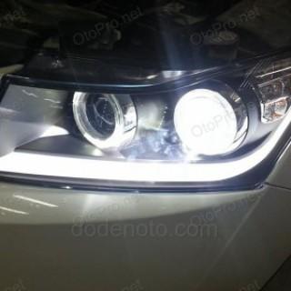 Đèn pha LED nguyên bộ xe Lacetti/Cruze mẫu 2 bi (projector)