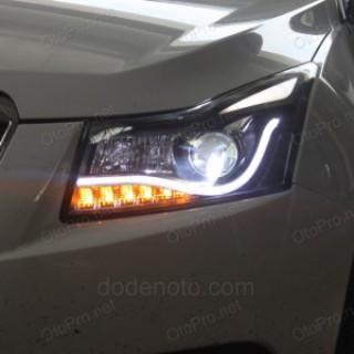Đèn pha độ LED nguyên bộ cho xe Cruze/Lacetti mẫu Audi A8