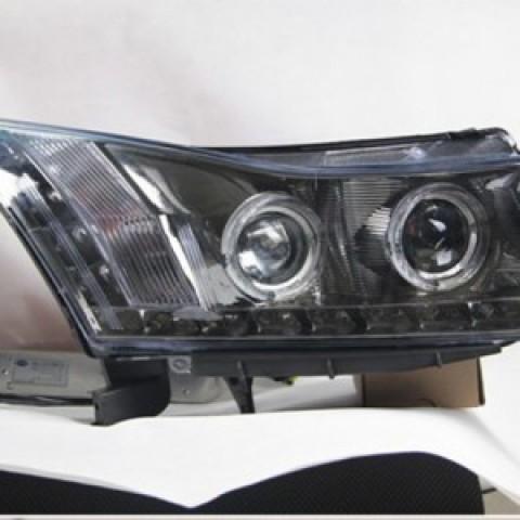 Đèn pha độ led nguyên bộ dành cho xe Lacetti-Cruze mẫu 2 projector