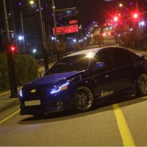 Đèn pha độ LED nguyên bộ cả vỏ cho xe Lacetti mẫu Audi A1