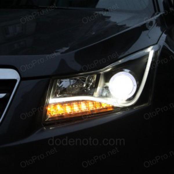 Đèn pha LED nguyên bộ Chevrolet Cruze/Lacetti kiểu Audi R8