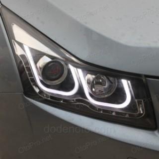Đèn pha độ led nguyên bộ cho xe Lacetti-Cruze mẫu BMW chữ U