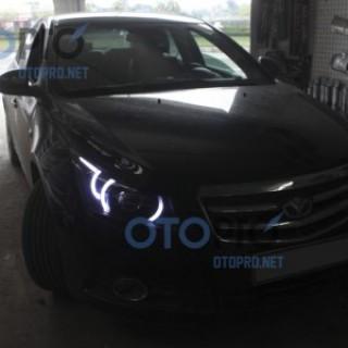 Độ đèn bi Xenon, Projector, LED khối kiểu Range Rover Evoque cho Lacetti-Cruze